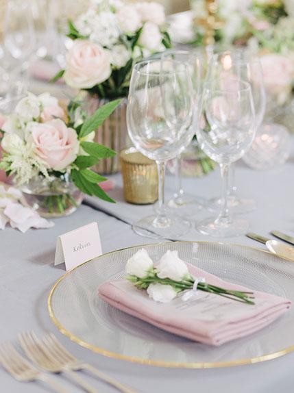table design at a wedding