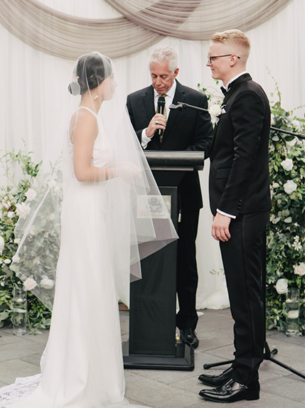 couple saying vows during ceremony