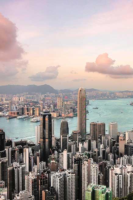 photo of the hong kong skyline
