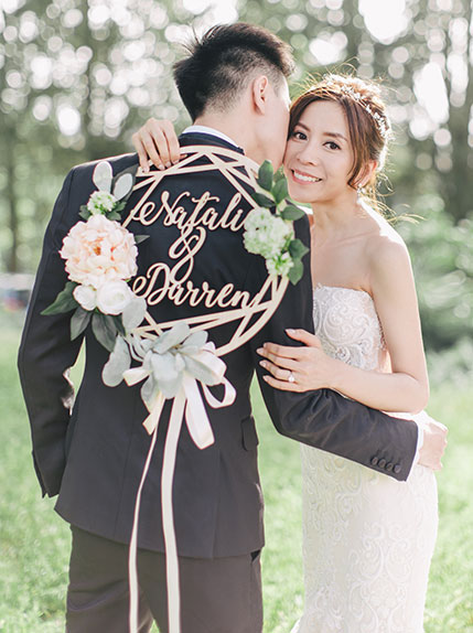 couple posing during their wedding day