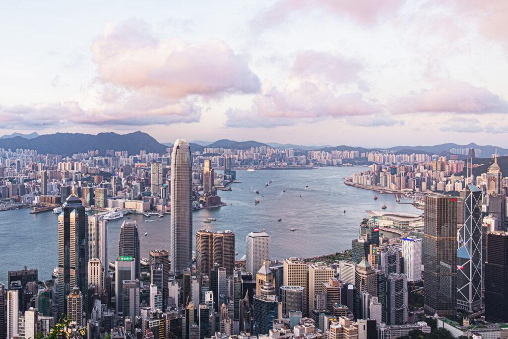 photo of the hong kong skyline at the peak