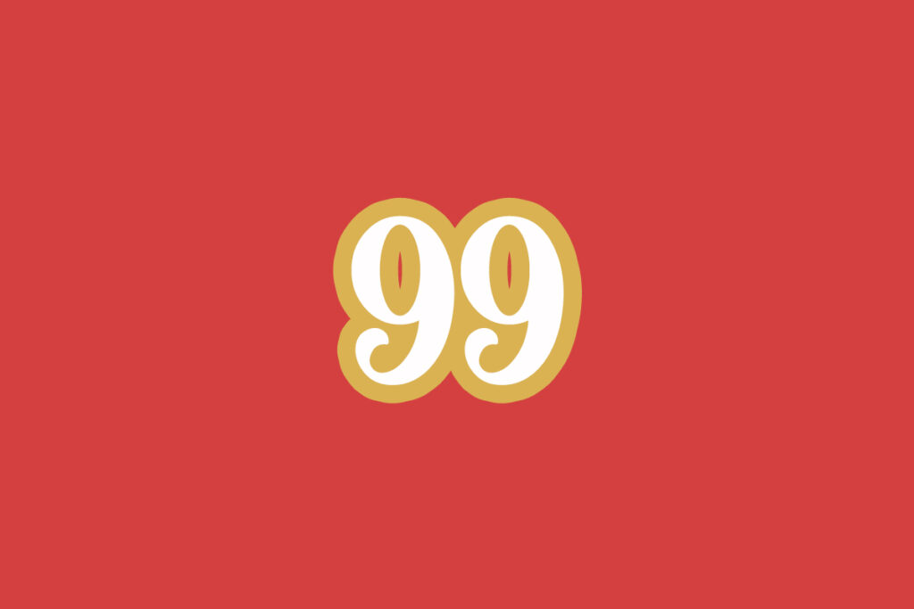 two number nines on red background