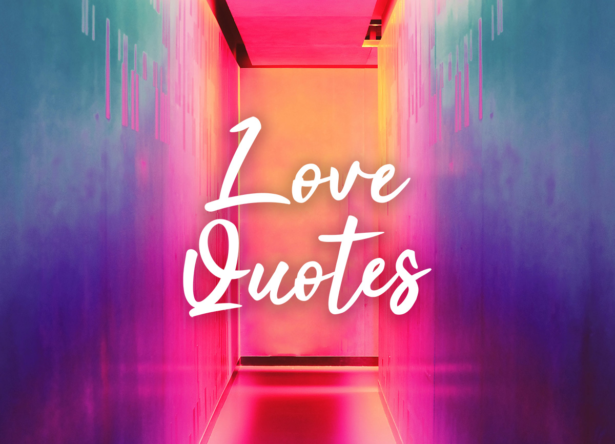 love quotes written on colorful background