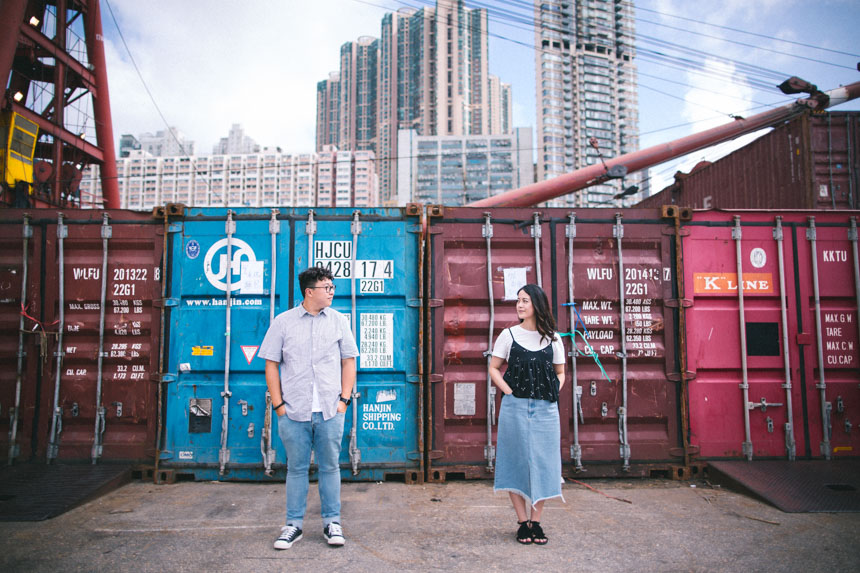couple posing during photoshoot at instagram pier